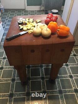 Table De Bloc De Boucher Vintage