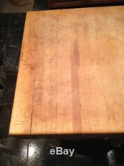 Table De Bloc De Cuisine De Boucherie Vintage White Legs Very Heavy