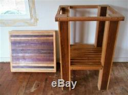 Table De Blocs De Boucher Handmade Avec Planche À Découper Amovible Top Home Kitchen Island