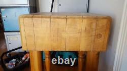 Table De Blocs De Boucherie Vintage