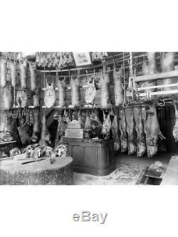 Table De Boucherie En Bois D'érable Renforcé De Bovins Ou De Porcins Du Xxe Siècle
