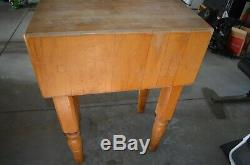 Table De Découpe De Boucher D'époque John Boos Block En Bois D'érable Massif 24x18x10 X34