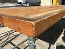 Table En Bois 120 X 48 X 36h Boulangers / Boucheries Dessus De Table 2,5 Épais
