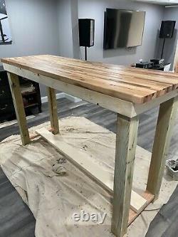 Table Sur Mesure De Bloc De Boucherie De Haut-dessus/table De Bar