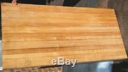 Table Wood 60 X 30 X 36h Butcher Block Dessus De Table 2,5 Épaisseur