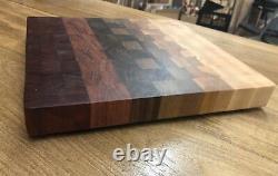 The Radiance Beautiful End Grain Cutting Board! Mélange De Bois Exotique/domestique