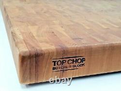 Top Chop Boucher Bloc De Coupe 24 X 18 X 2, Finition D'huile De Grain De Fin De Bois D'acajou