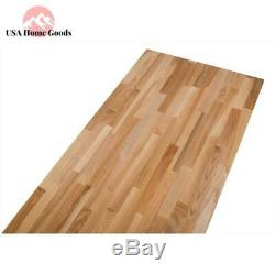 Unfinished Ash Natural Wood Butcher Block 4'2 X Conseil Countertop 2'1 X 1,5