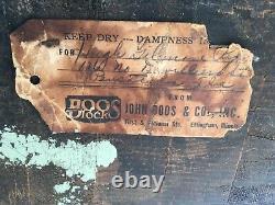 Vintage Butcher Block John Boos 35,5 X 30,25 X 14,5 29,25 Tall 4/1948 Mobile Al