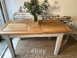 Vintage Chêne 6.8 Pied Extension Ferme Bouchers Bloc Cuisine Table À Manger