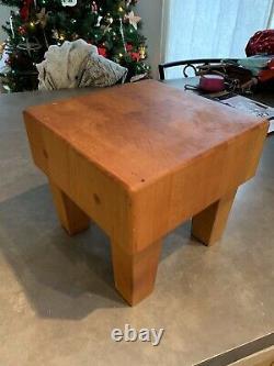 Vintage Kimball Wood Butcher Block Cutting Board Table 8 X 8 X 7 3/8 High