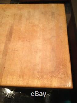 Vintage Kitchen Butcher Block Table Blanc Jambes Très Lourd