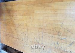 Vintage Maple 2,25 Épaisseur Bâton De Boucherie Surface Du Banc D'atelier / Top 27 X 64