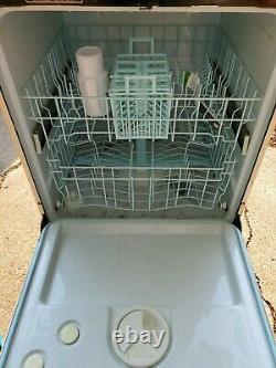 Vintage Maytag Jet-clean Lwc504 Lave-vaisselle Portable Véritable Bloc De Boucher En Bois