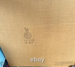 Vintage New Deco Double Face Boucher Bloc Bois Dart Board 22 X 22 New In Box