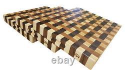 Walnut Cherry Maple Tissage Designer Butcher Block Cutting Board Nouveau Grain De Fin
