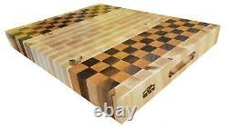 Walnut Maple Cherry Butcher Block Cutting Board Nouveau Grain De Fin