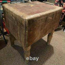 Wood Welde Marque Michigan Maple Block Company Butcher Block Table