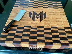 XL Main Fin Grain Board Coupe Butcher Block Personnalisé 24 X 24 X 3 T
